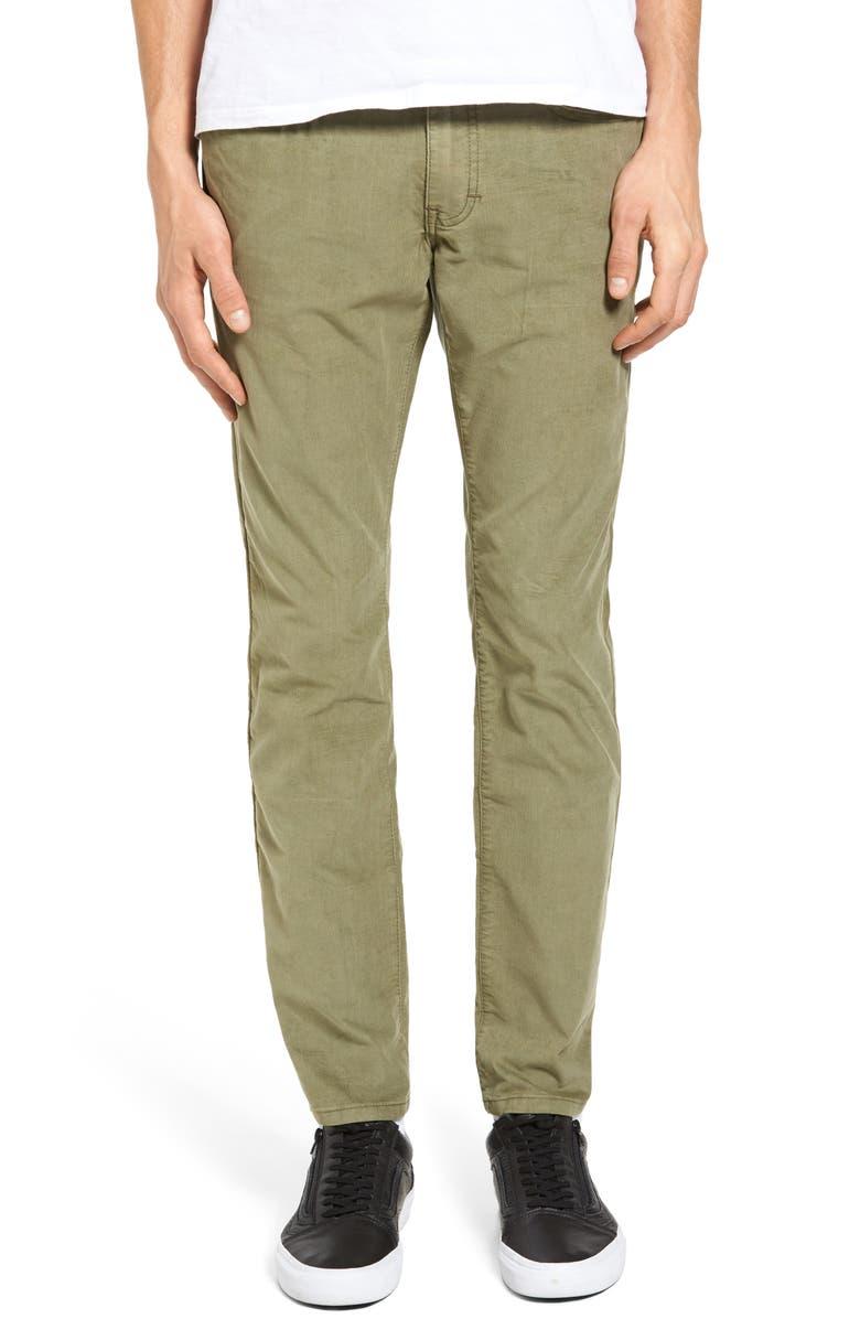 EZEKIEL Bryce Chopper Slim Fit Corduroy Pants, Main, color, 302