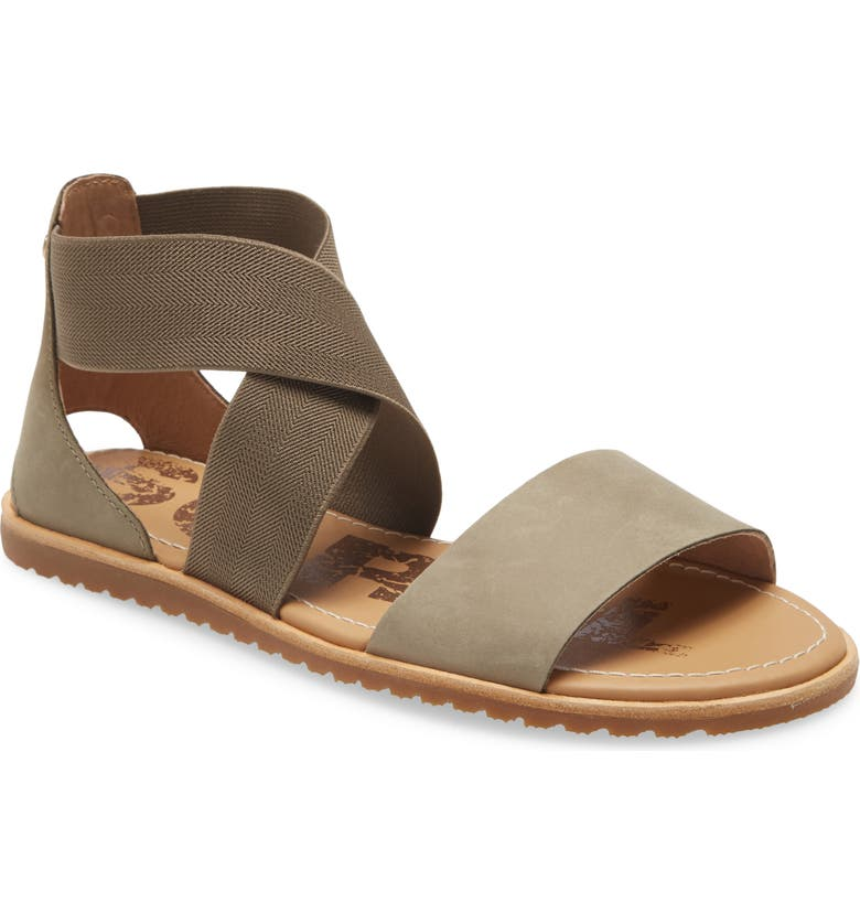 SOREL Ella Sandal, Main, color, SAGE LEATHER