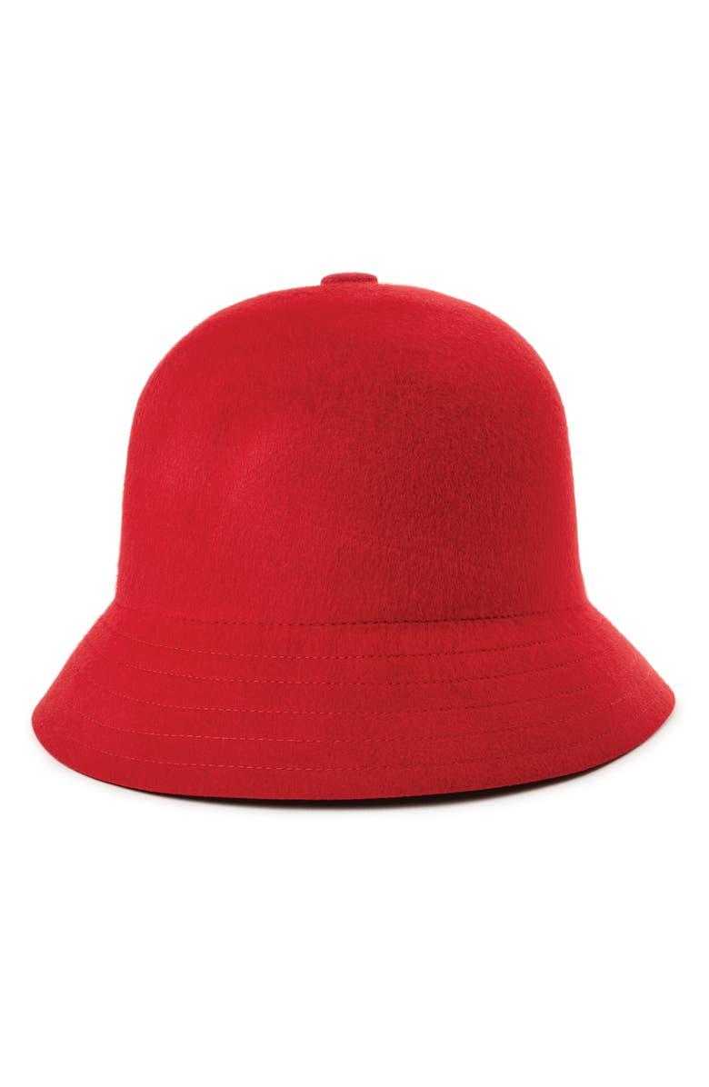BRIXTON Essex Bucket Hat, Main, color, SCARLET