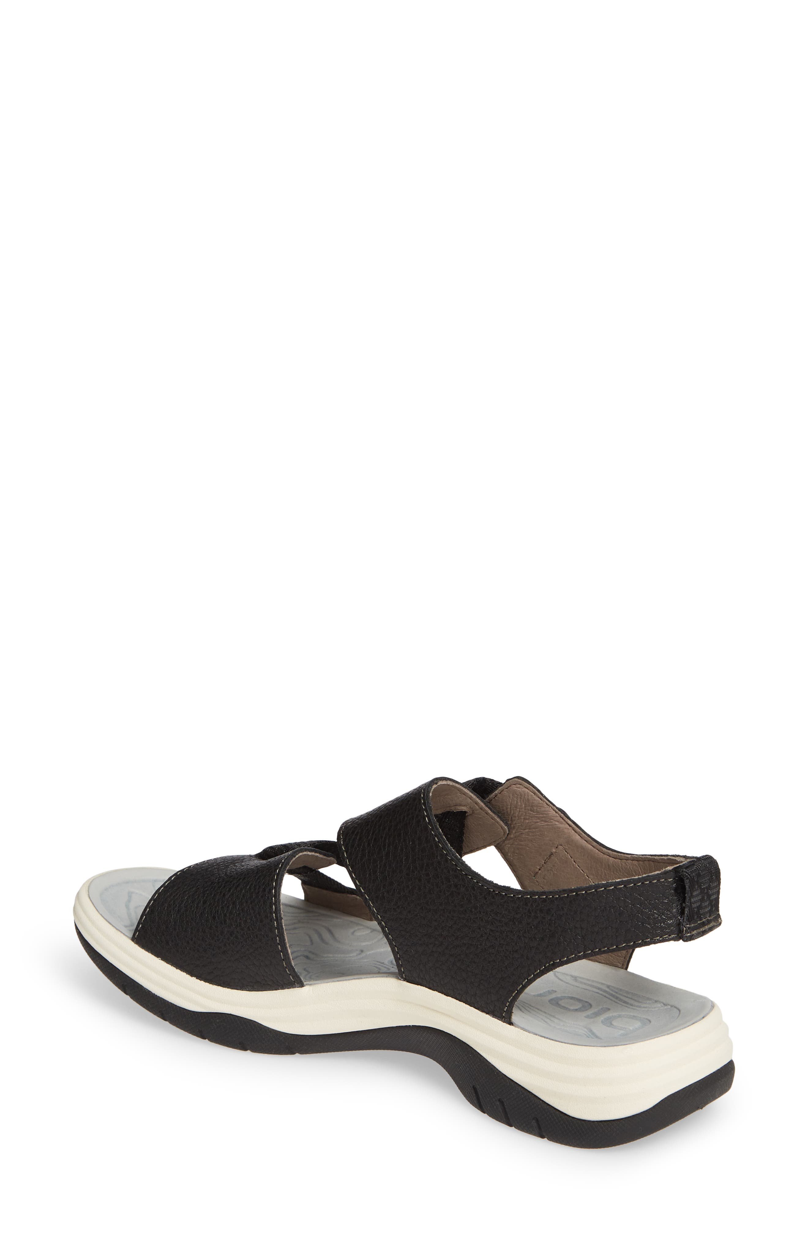 ,                             Nahla Water Friendly Sandal,                             Alternate thumbnail 2, color,                             BLACK LEATHER