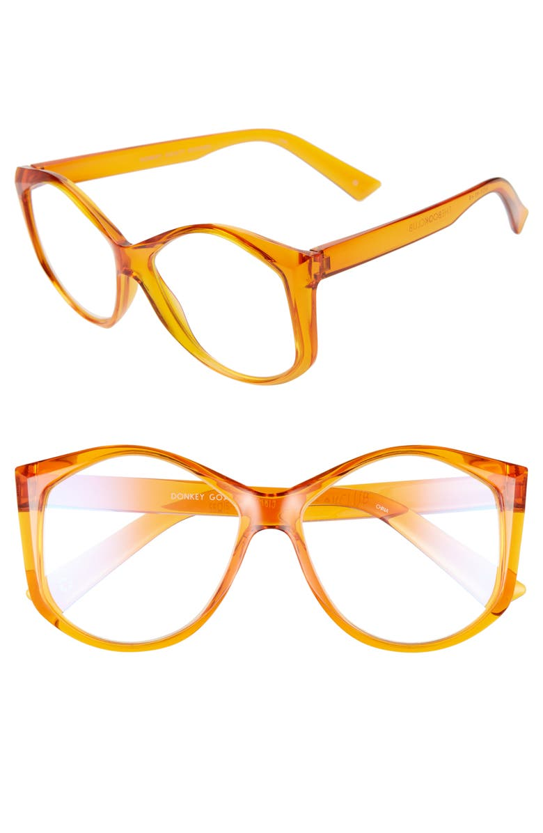 THE BOOK CLUB Donkey Goaty 56mm Reading Glasses, Main, color, SUNSHINE AMBER