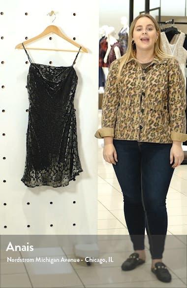 Gabi Leopard Velvet Burnout Cowl Minidress, sales video thumbnail