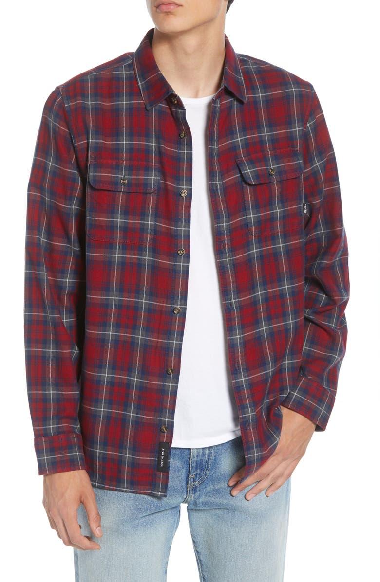 VANS Sycamore Classic Fit Plaid Button-Up Flannel Shirt, Main, color, 601