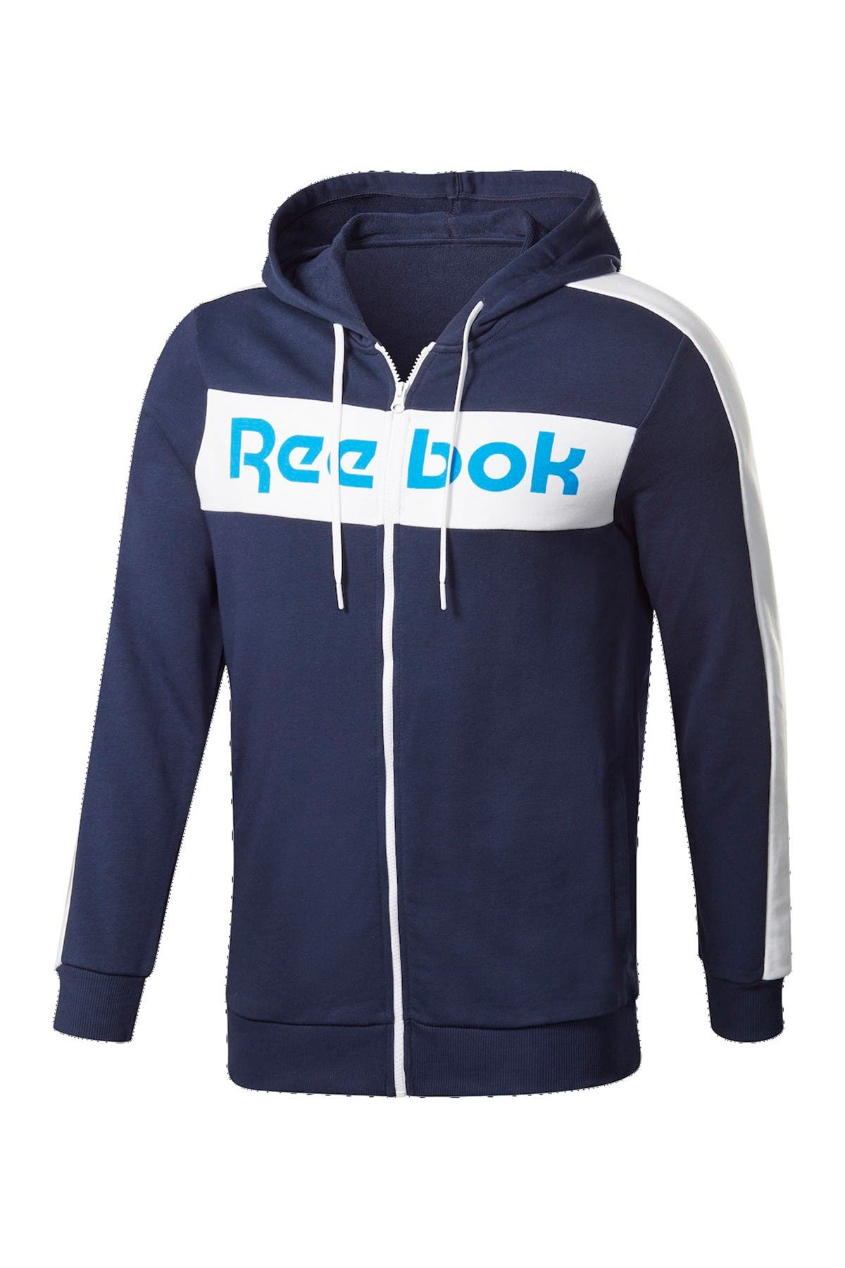 Image of Reebok Logo Zip French Terry Hoodie