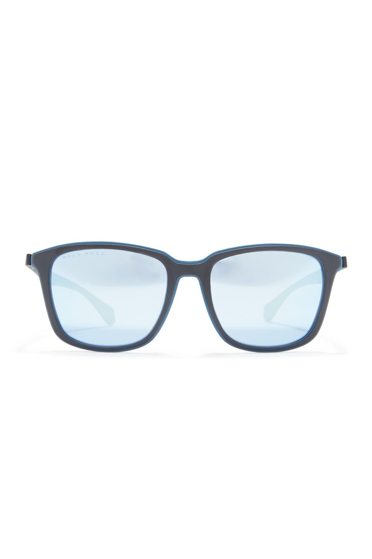 Image of BOSS 56mm Rectangular Sunglasses