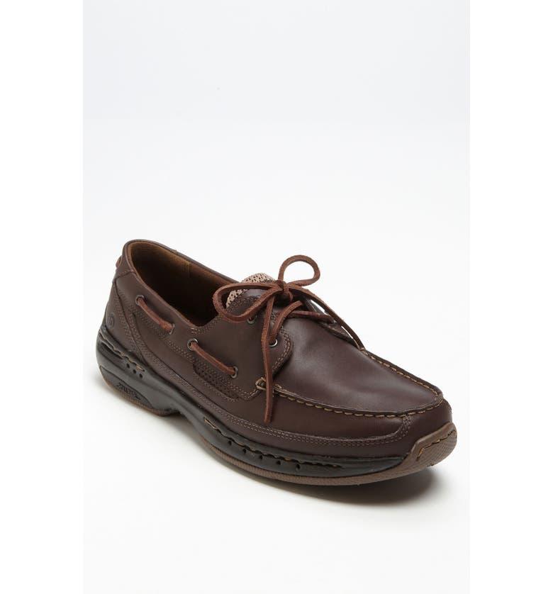 DUNHAM 'Shoreline' Boat Shoe, Main, color, BROWN LEATHER