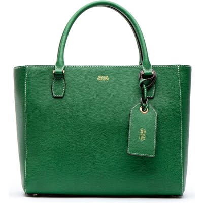Frances Valentine Olivia Boarskin Leather Tote - Green