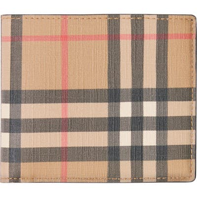 Burberry Vintage Check Billfold Wallet - Beige