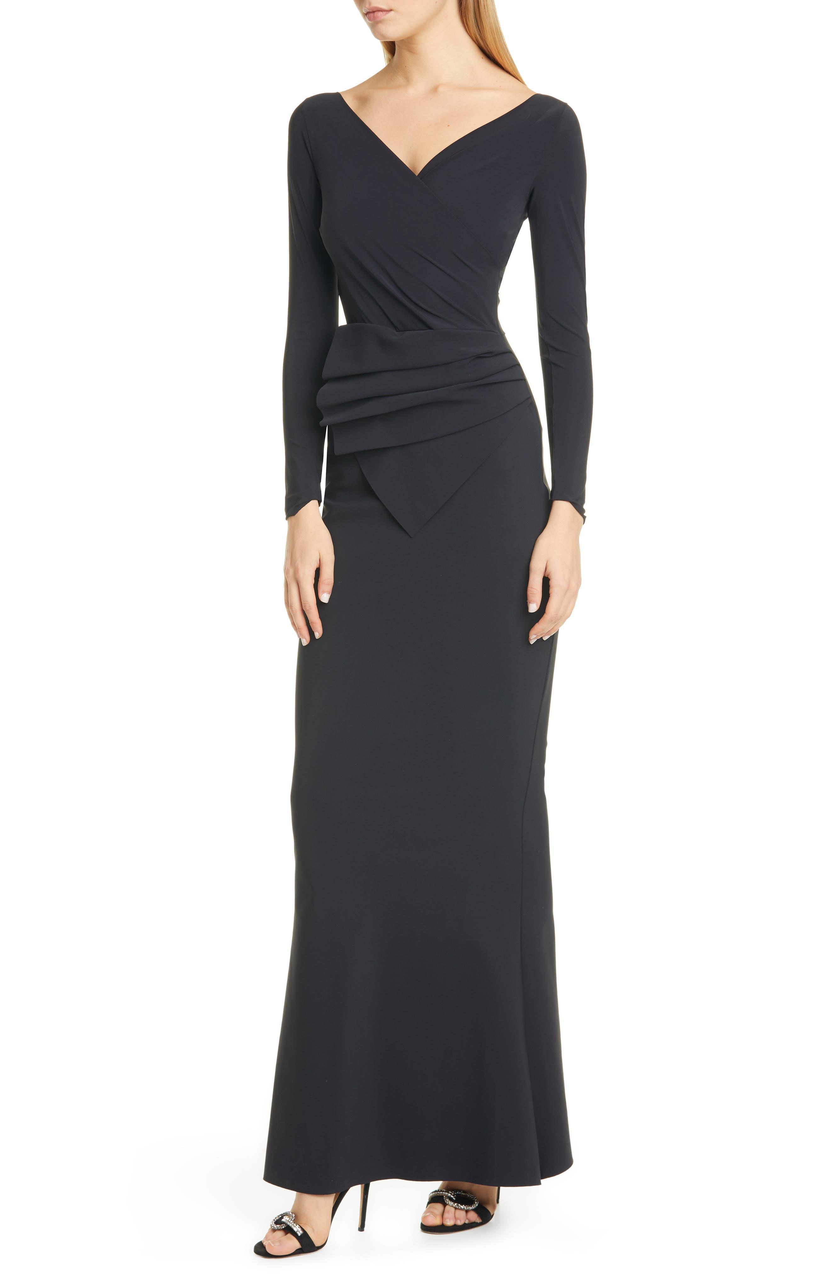 Kaya Long Sleeve Ruffle Gown