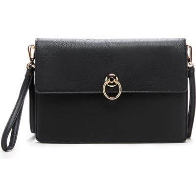 Sole Society Faux Leather Clutch - Black