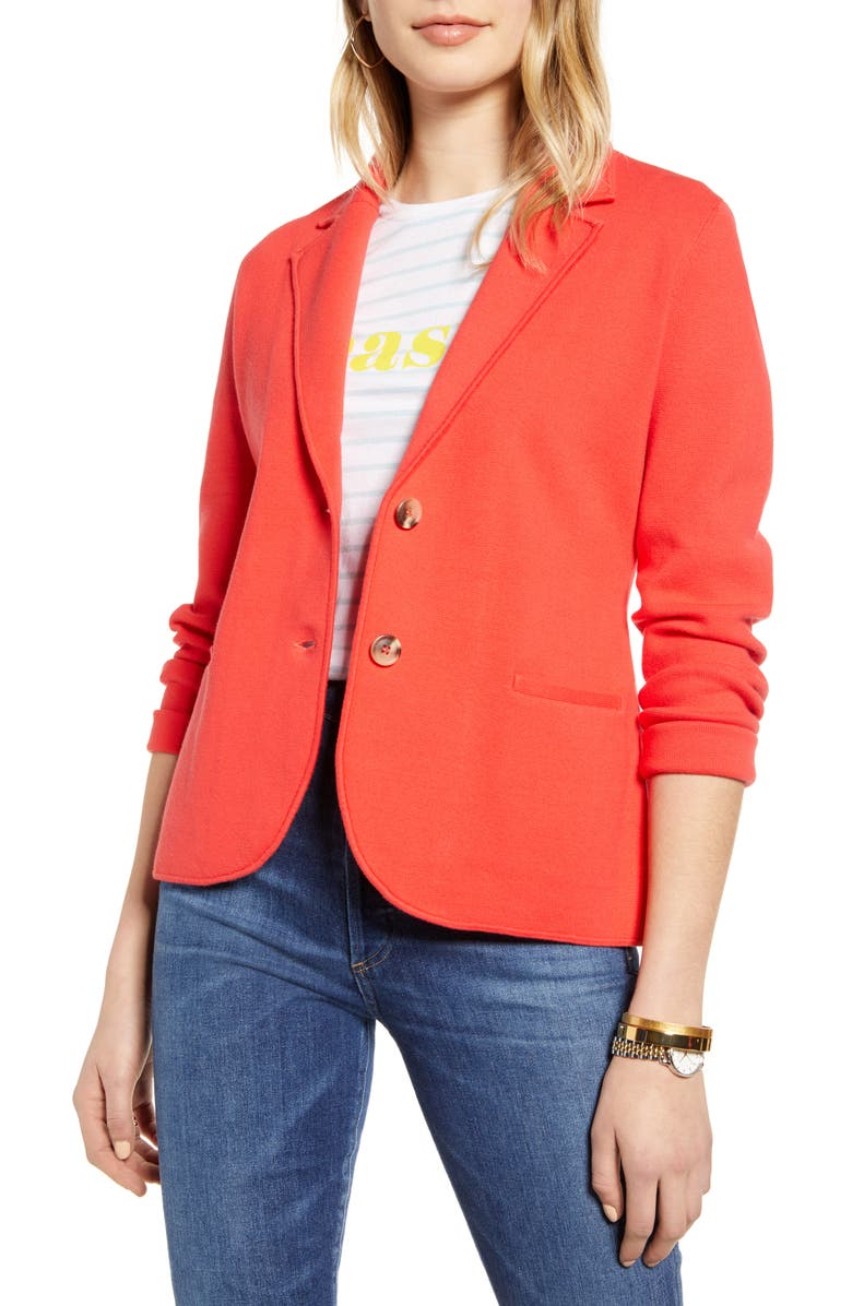 1901 Sweater Blazer, Main, color, RED BITTERSWEET