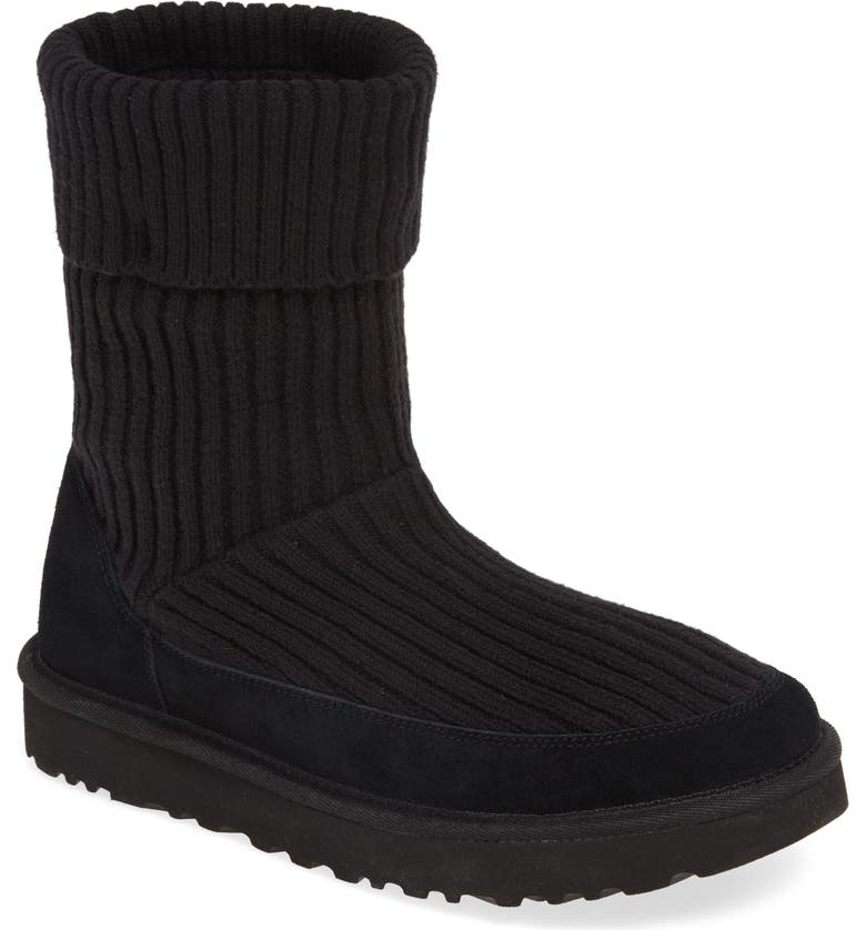 UGG<SUP>®</SUP> Qori Rib Knit Boot, Main, color, 001