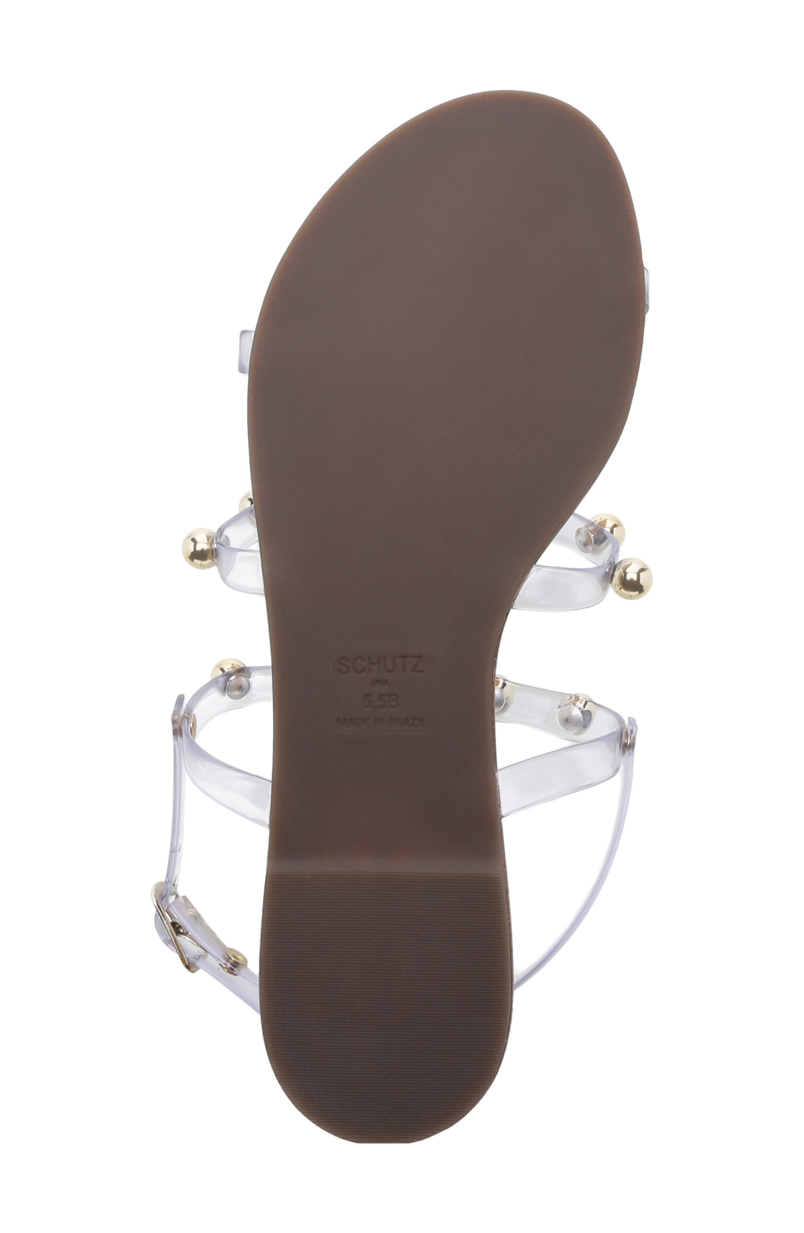 ,                             Yarin Sandal,                             Alternate thumbnail 5, color,                             TRANSPARENTE LEATHER