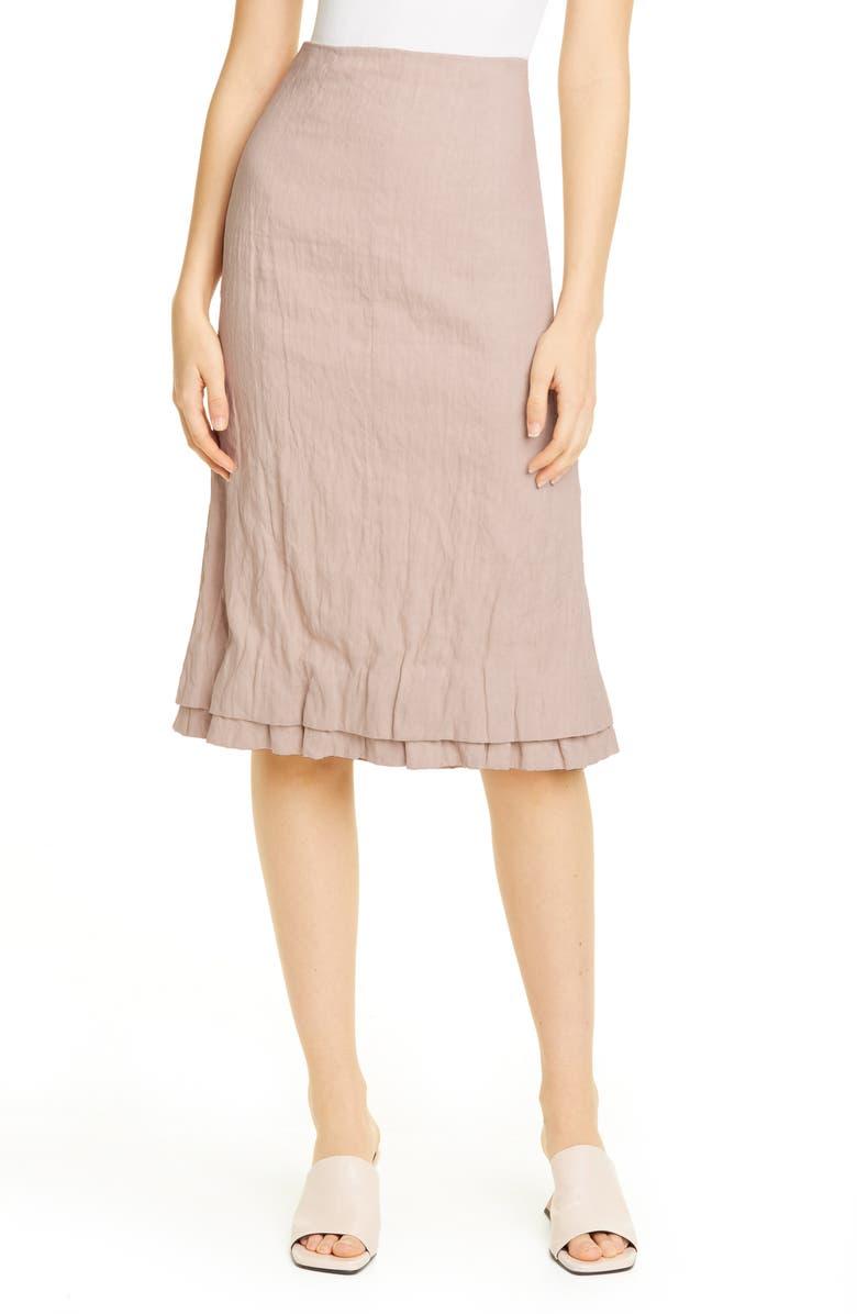 BROCK COLLECTION Linen & Cotton Pencil Skirt, Main, color, LIGHT/ PASTEL