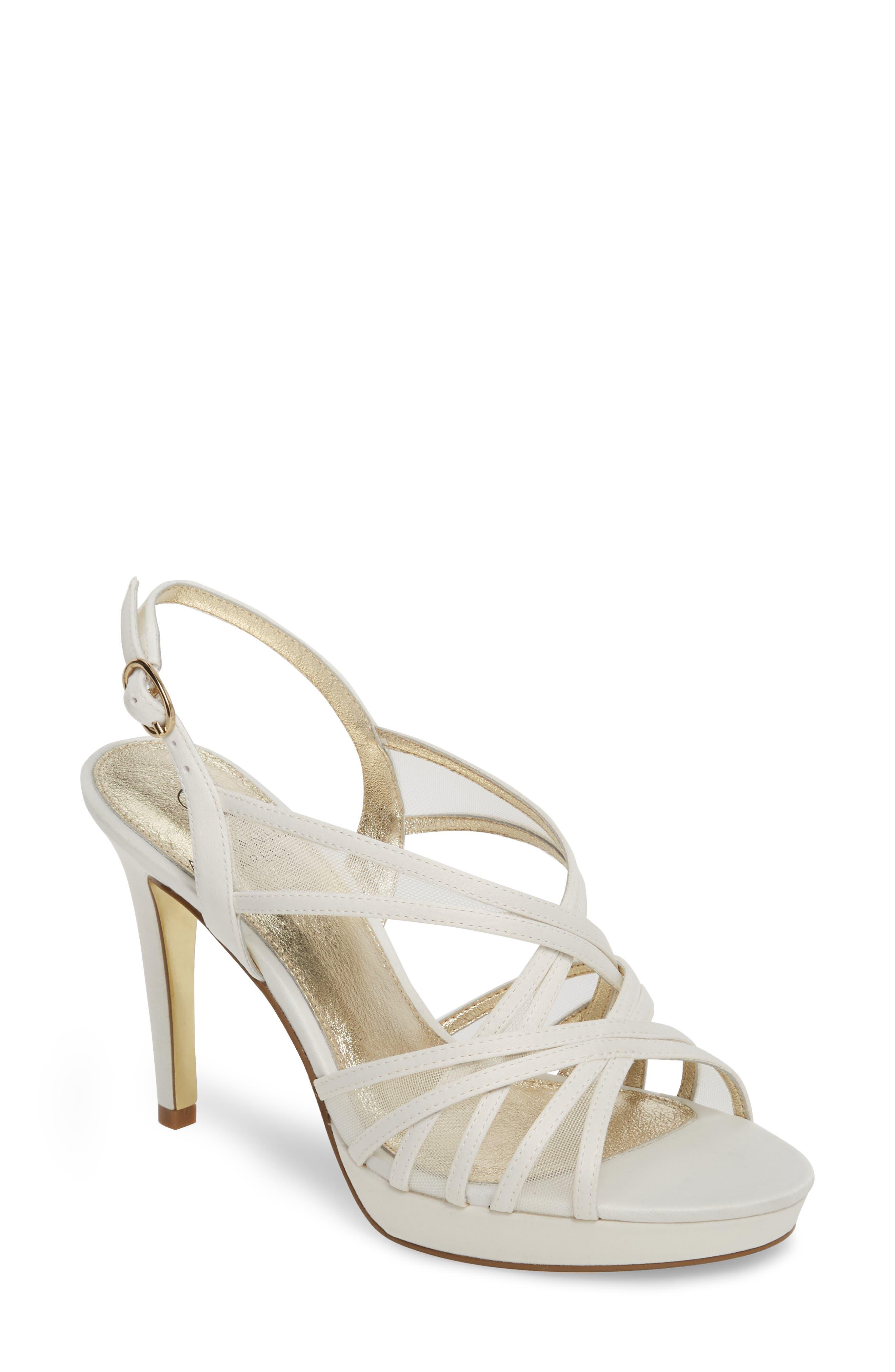 Adrianna Papell Adri Platform Sandal- White