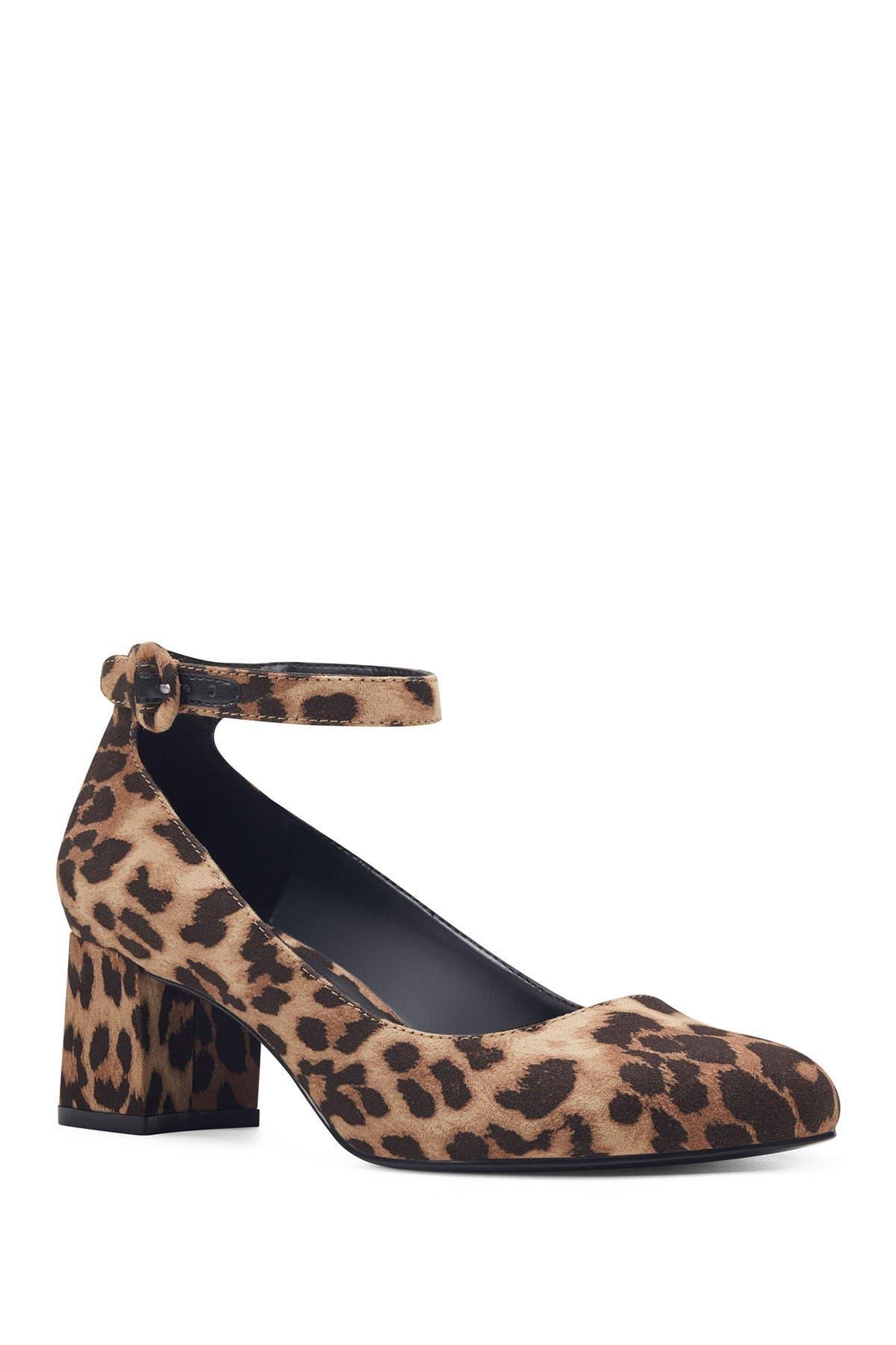 Odear Leopard Print Ankle Strap Pump