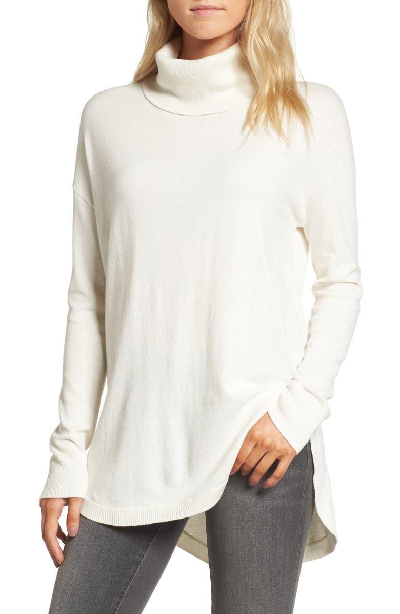 CHELSEA28 Turtleneck Sweater, Main, color, WHITE SNOW