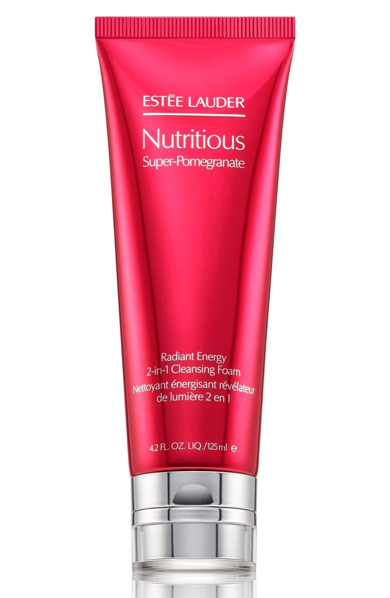 ESTÉE LAUDER Nutritious Super-Pomegranate Radiant Energy 2-in-1 Cleansing Foam, Main, color, NO COLOR