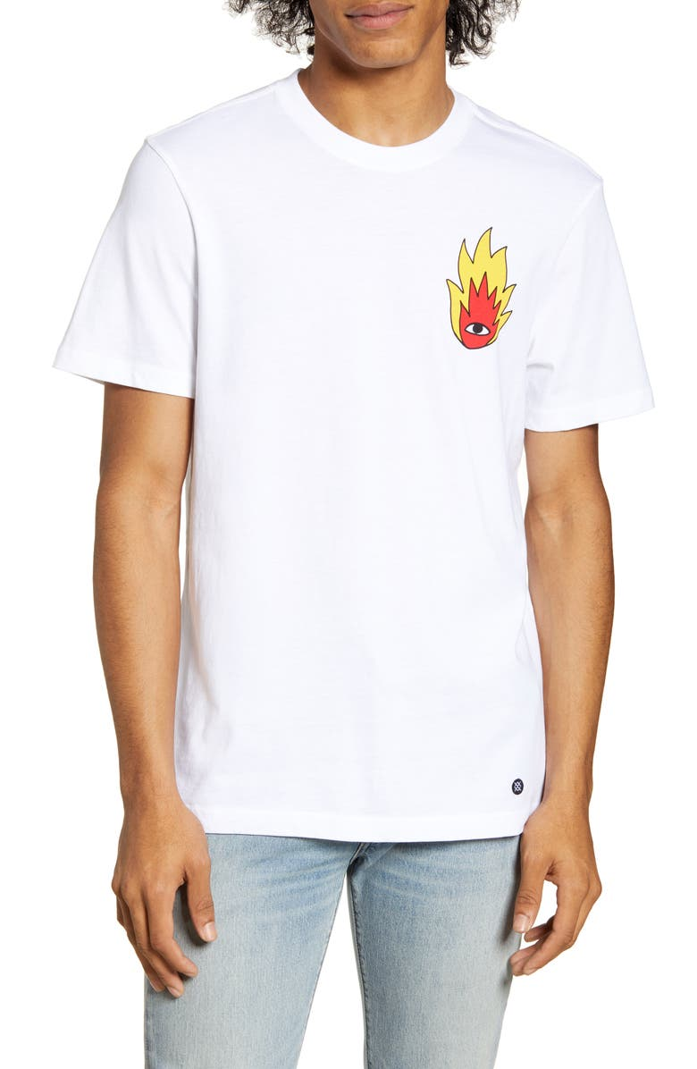 STANCE Cavolo Shooting Star Graphic T-Shirt, Main, color, WHITE