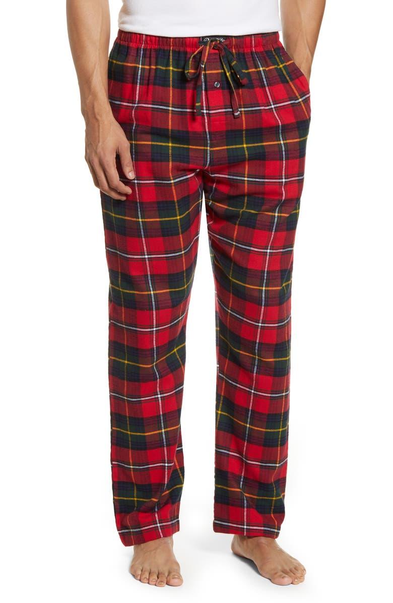 POLO RALPH LAUREN Plaid Flannel Pajama Pants, Main, color, BROMLEY PLAID