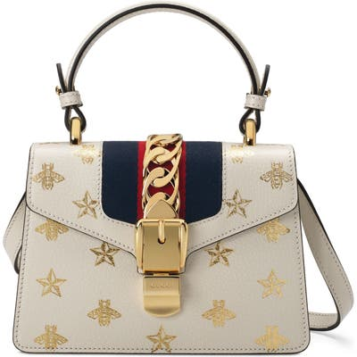 Gucci Small Top Handle Leather Shoulder Bag - White