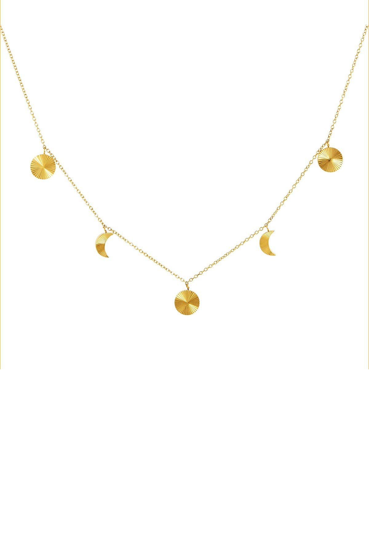 Image of Savvy Cie 14K Gold Plated Charm Necklace
