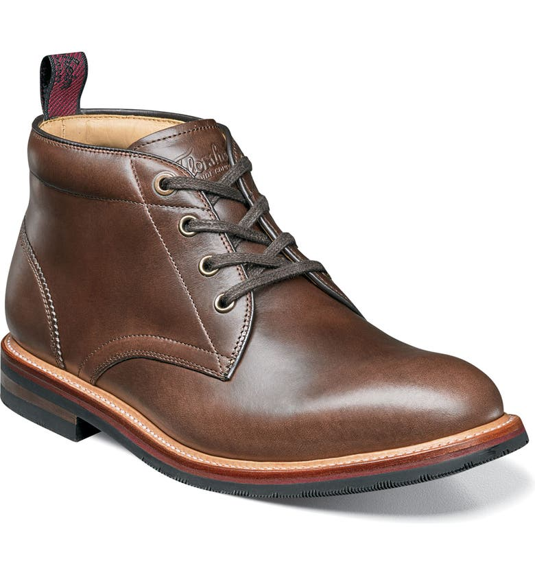 FLORSHEIM Foundry Leather Boot, Main, color, BROWN LEATHER