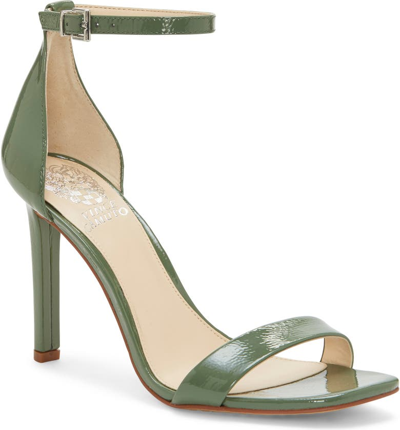 VINCE CAMUTO Lauralie Ankle Strap Sandal, Main, color, GREEN TEA PATENT LEATHER