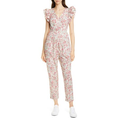 La Vie Rebecca Taylor Falaise Floral Cotton Jumpsuit, Yellow