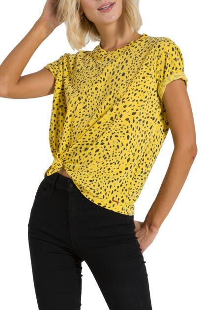 N:philanthropy Shanghai Distressed Cheetah Print T-shirt In Mellow Yellow Space Cheetah