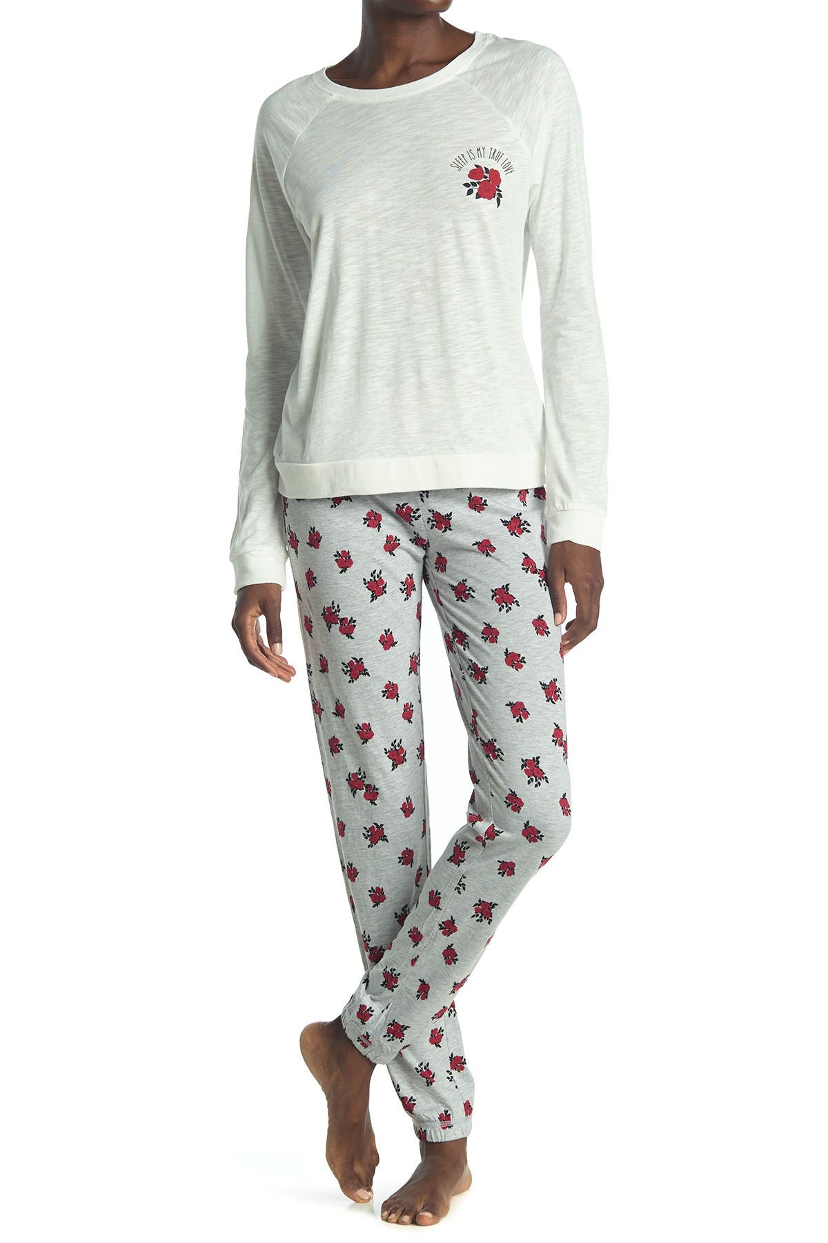 COZY ZOE Floral Shirt & Pants 2-Piece Pajama Set