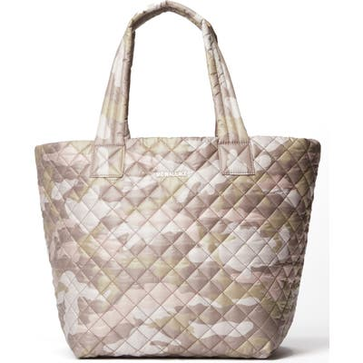 Mz Wallace Medium Metro Quilted Nylon Tote - Brown