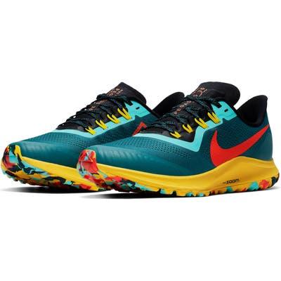 Nike Air Zoom Pegasus 36 Trail Running Shoe- Blue/green