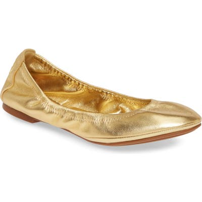 Tory Burch Eddie Ballet Flat- Metallic