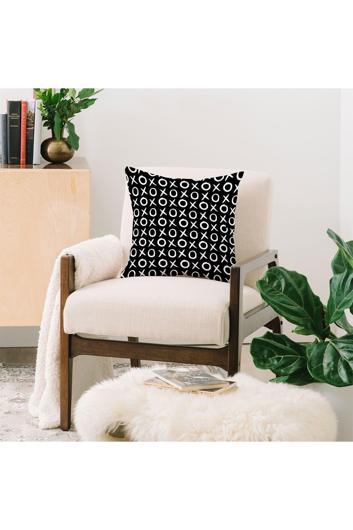 Image of Deny Designs Amy Sia Love XO White & Black Square Throw Pillow