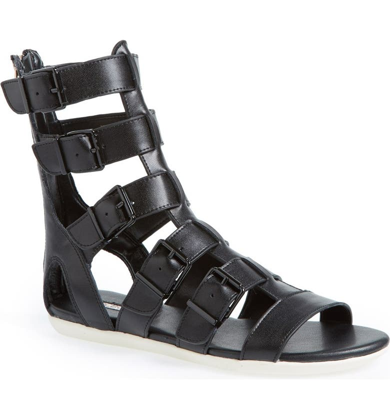 BCBGENERATION 'Stanley' Leather Gladiator Sandal, Main, color, 001