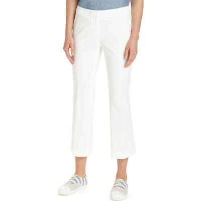 Lafayette 148 New York Manhattan Crop Flare Pants, White