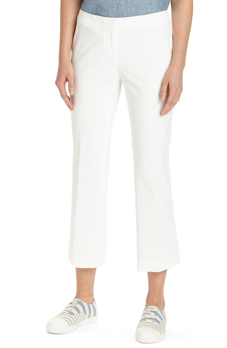 LAFAYETTE 148 NEW YORK Manhattan Crop Flare Pants, Main, color, WHITE