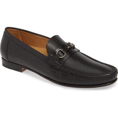 Mezlan Perforated Bit Loafer- Black