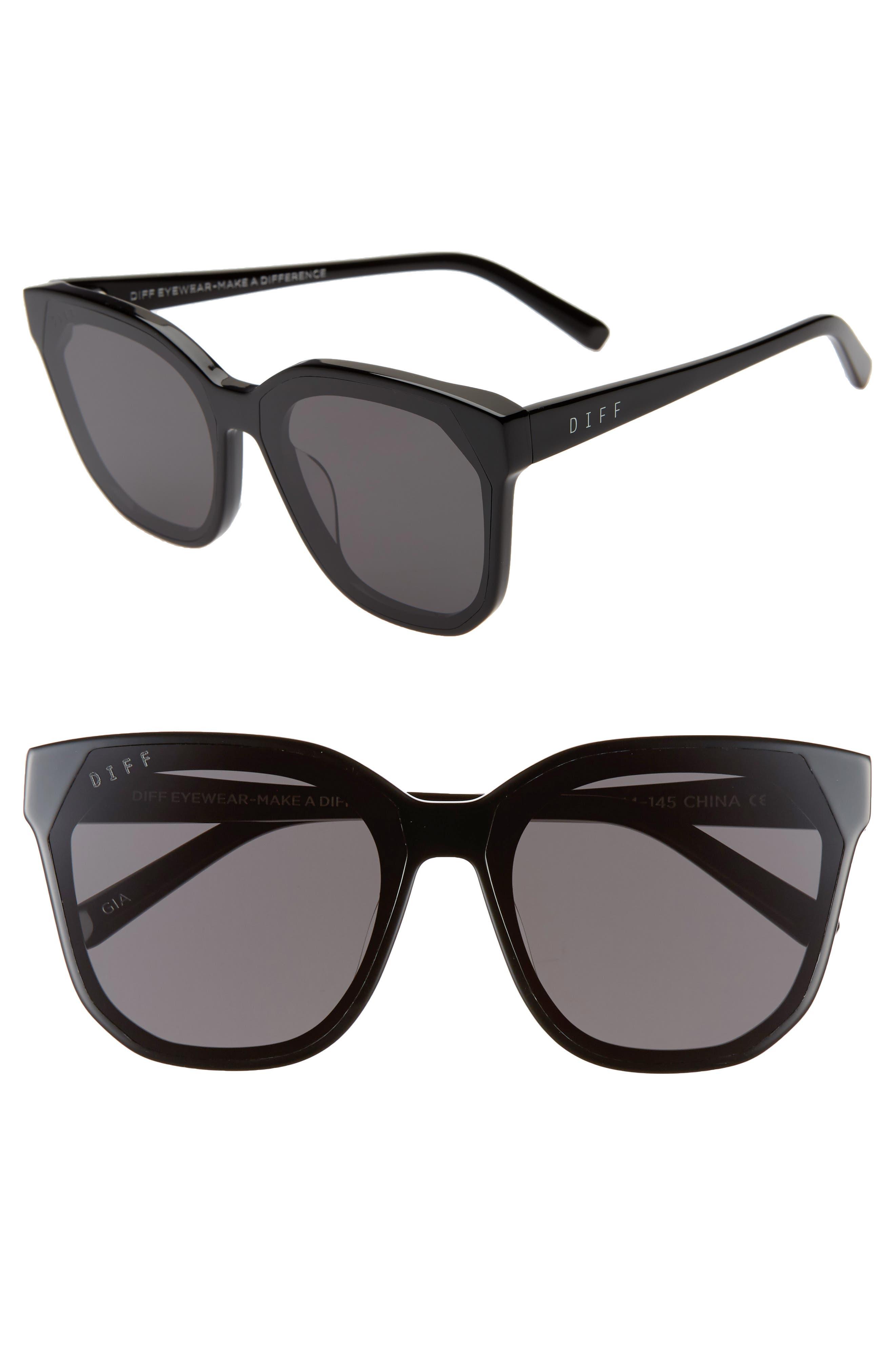 Gia 62mm Oversize Square Sunglasses