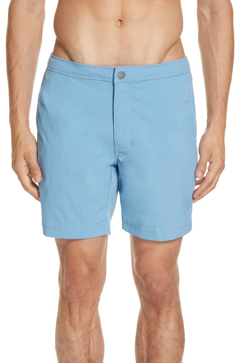 ONIA Calder Swim Trunks, Main, color, VINTAGE BLUE