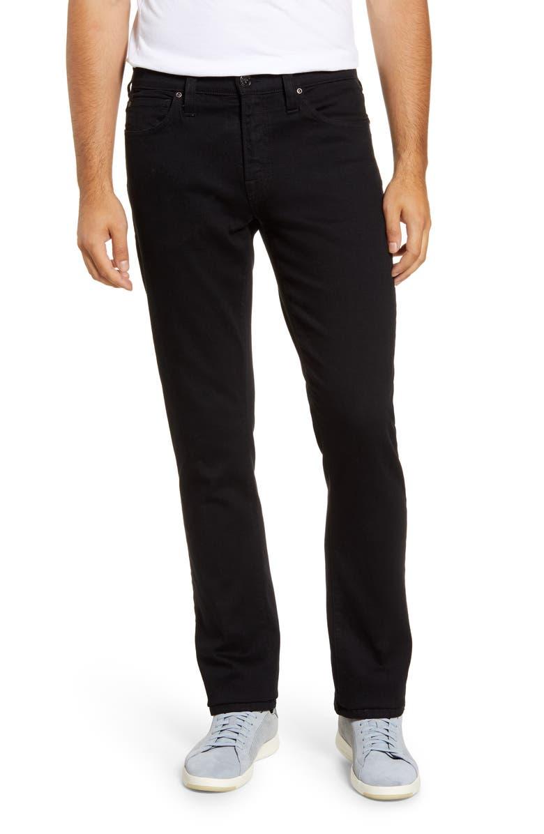 AGAVE Rocker Slim Fit Five Pocket Twill Pants, Main, color, TRIPLE BLACK