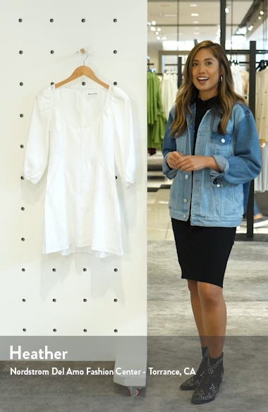 Maxine Linen Minidress, sales video thumbnail
