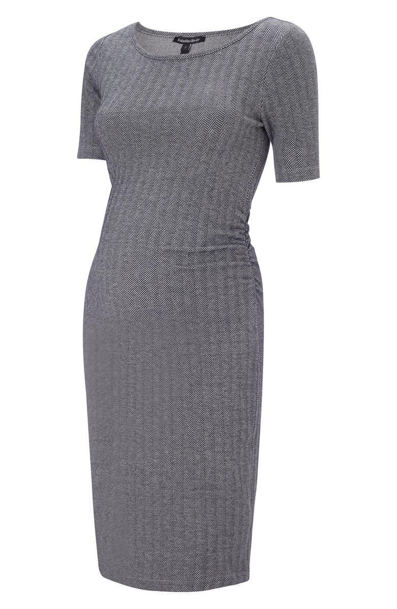 ISABELLA OLIVER Effra Ruched Maternity Dress, Main, color, 420
