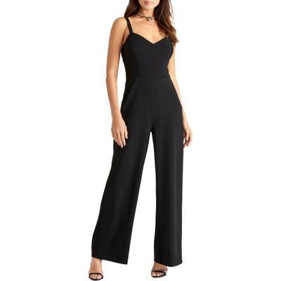 Rachel Rachel Roy Open Back Crepe Jumpsuit, Black