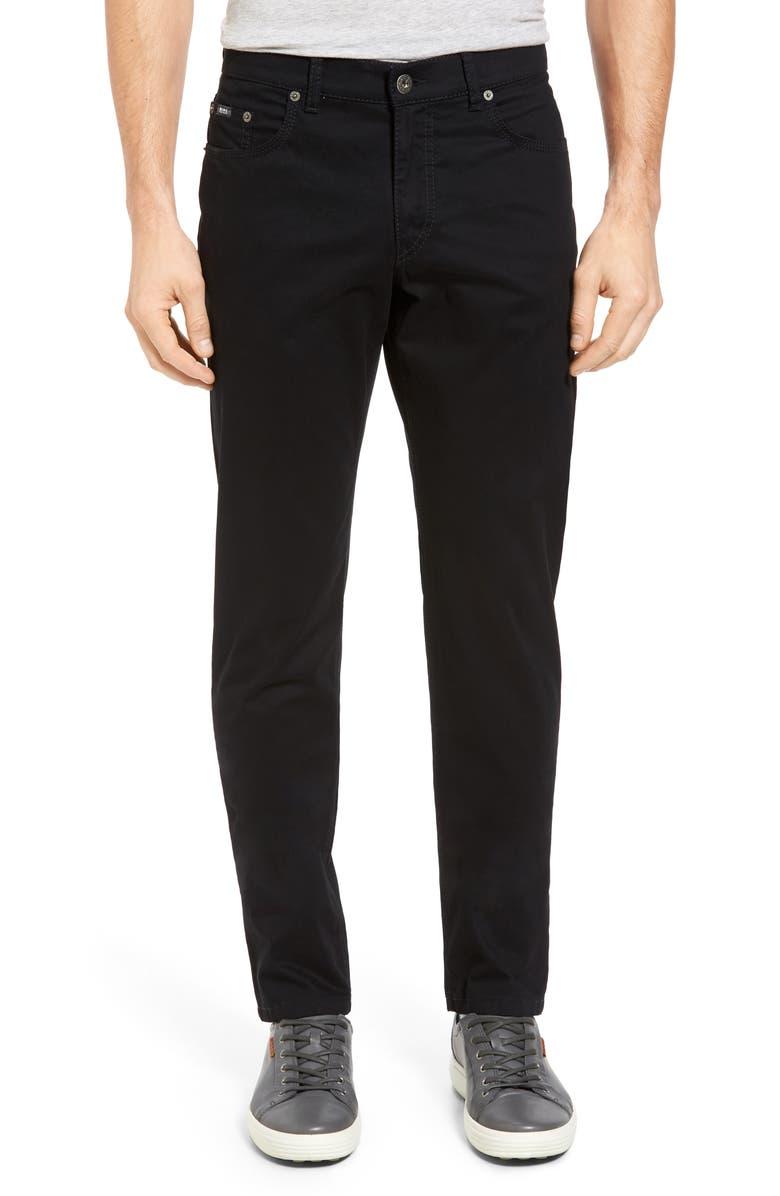 BRAX Cooper Prestige Straight Leg Stretch Cotton Pants, Main, color, PERMA BLACK