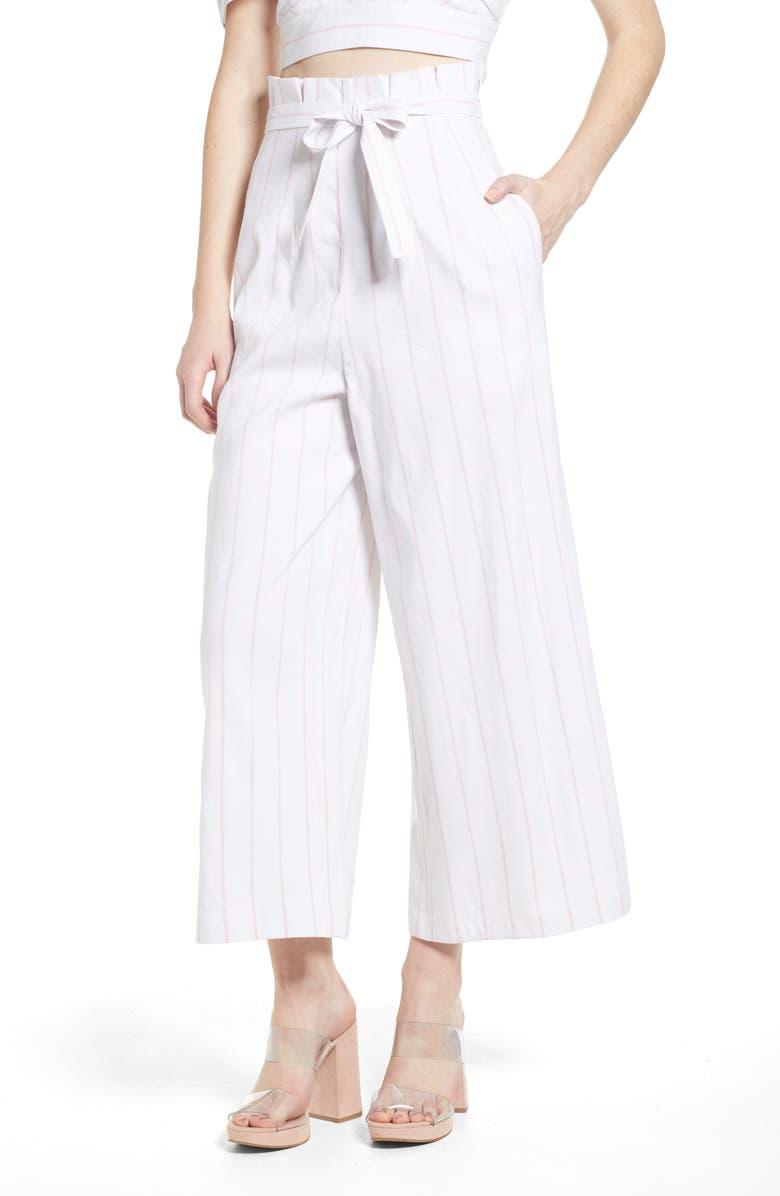 LEITH High Waist Crop Wide Leg Pants, Main, color, 900