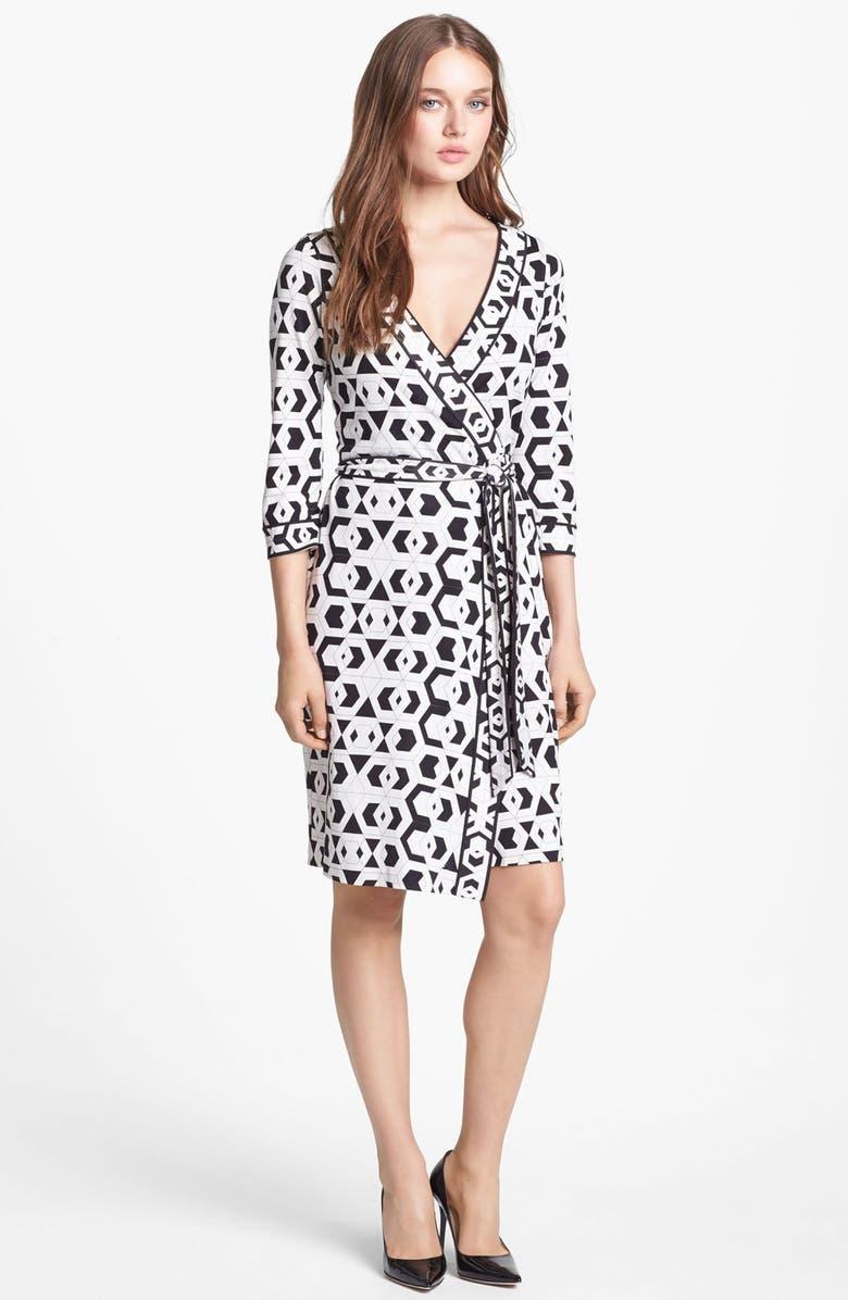 7dff0b8ea1c Diane von Furstenberg 'Julian' Banded Silk Wrap Dress | Nordstrom