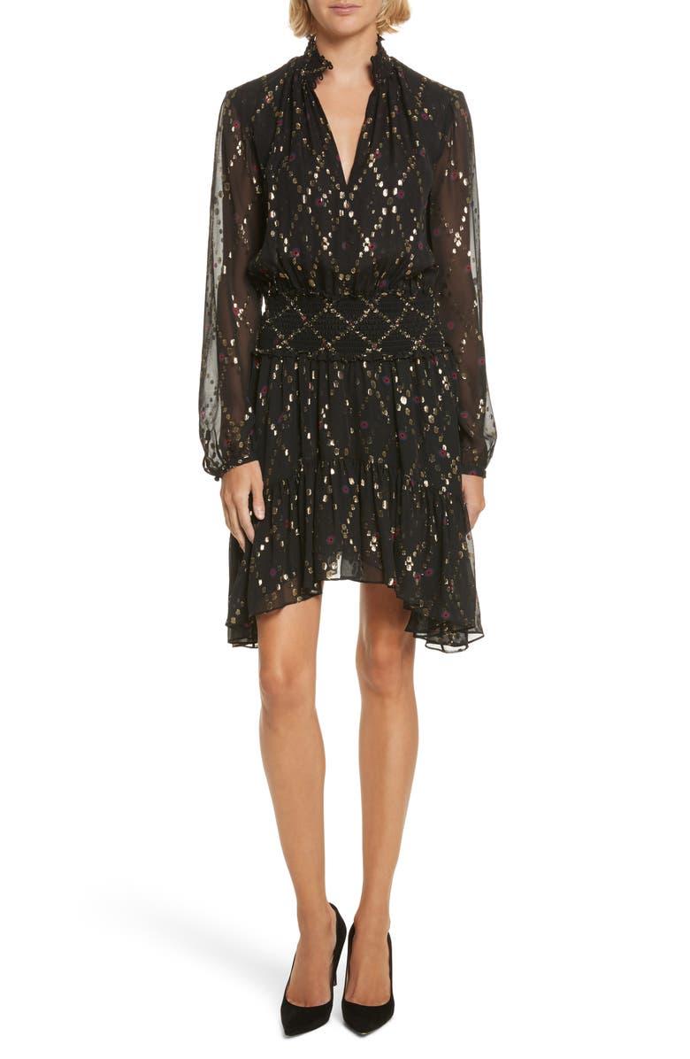 A.L.C. Tula Silk Dress, Main, color, 002