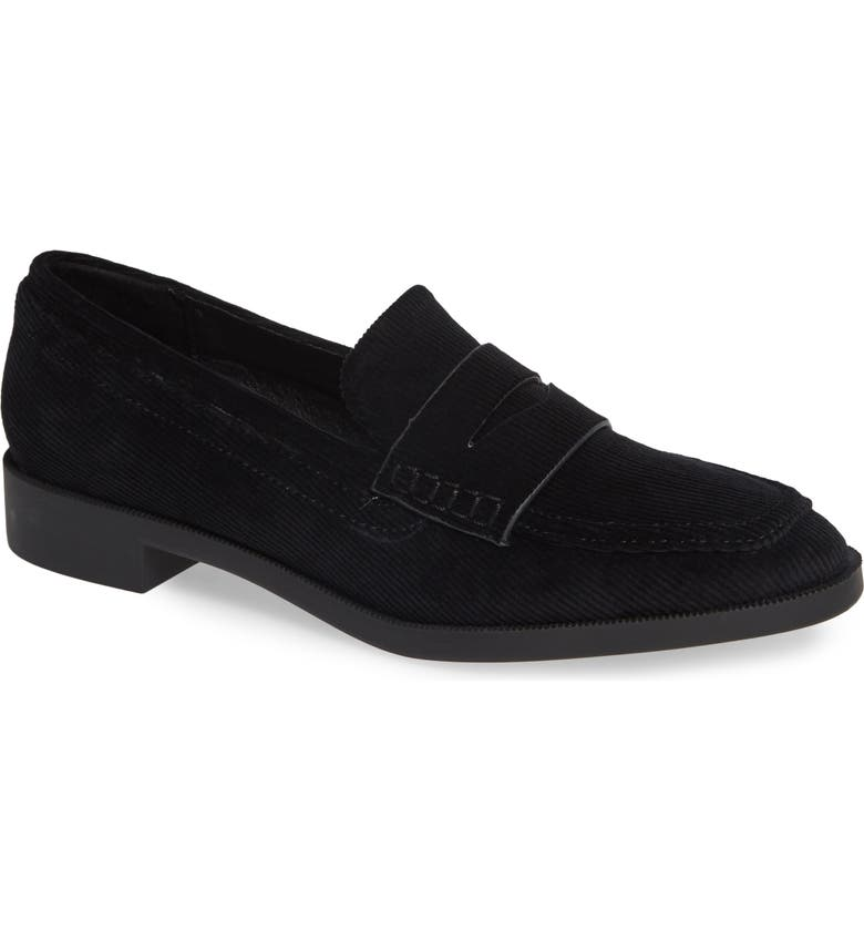 SBICCA Diplomat Penny Loafer, Main, color, BLACK FABRIC